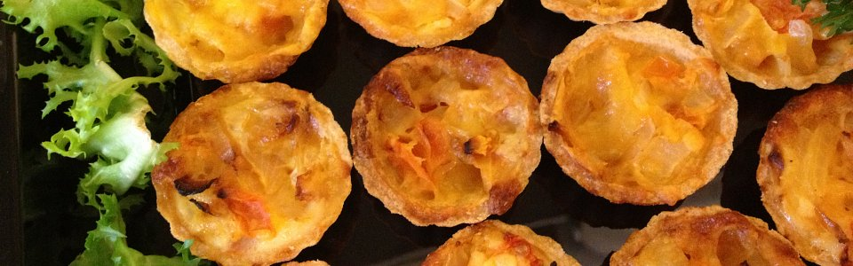 Cheese and tomato tartlets