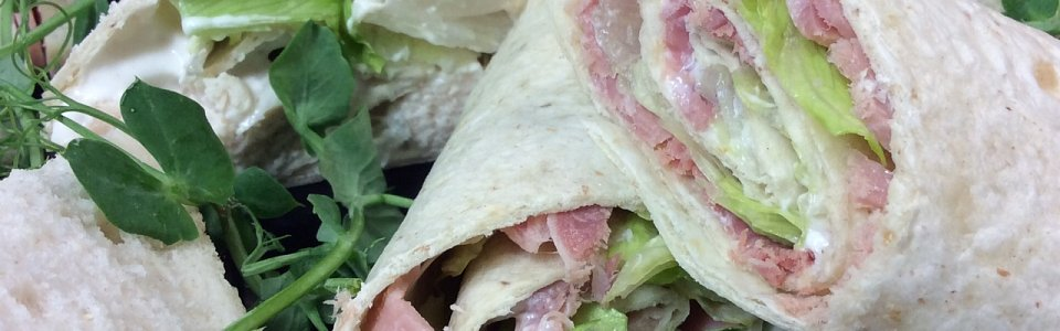 Ham and cream cheese wraps