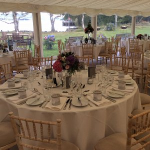 Marquee wedding at Howtown